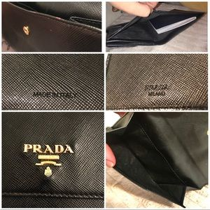 ab589cf6b90864 Prada Bags | Authentic Black Passport Wallet | Poshmark